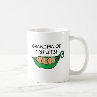 Grandma of Triplets Pod Classic White Coffee Mug