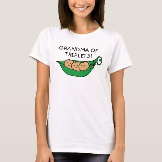 Grandma of Triplets Pod T-Shirt
