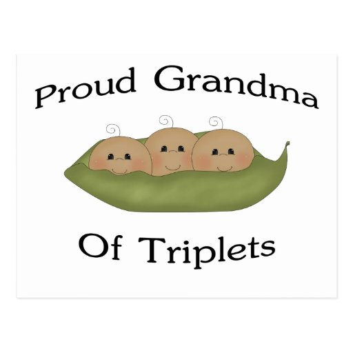Grandma Of Triplets Postcard