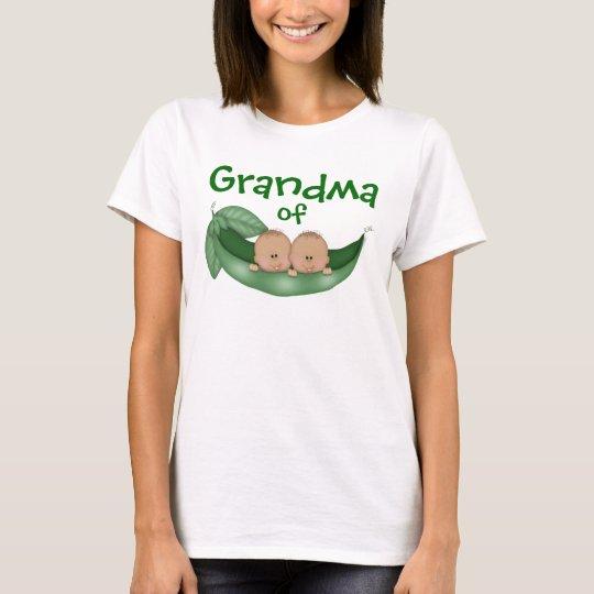 Grandma of Twin Boys with Dark Skin T-Shirt