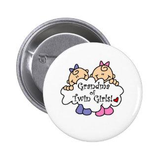 Grandma of Twin Girls 2 Inch Round Button