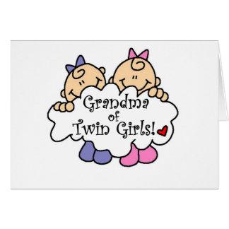 Grandma of Twin Girls Card