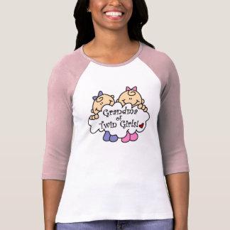 Grandma of Twin Girls Tee Shirt