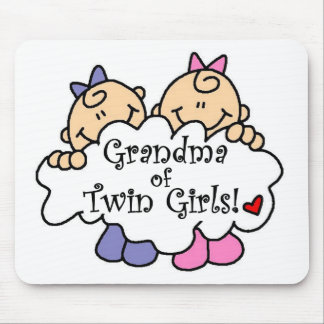 Grandma of Twin Girls Tshirts and Gifts Mouse Pad