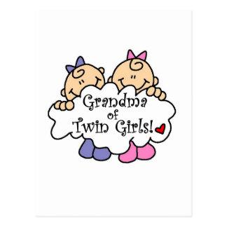 Grandma of Twin Girls Tshirts and Gifts Postcard