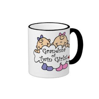 Grandma of Twin Girls Tshirts and Gifts Ringer Mug