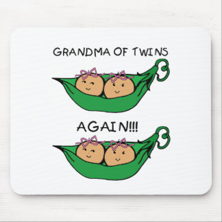 Grandma of Twins Again Pod bows Mouse Pad