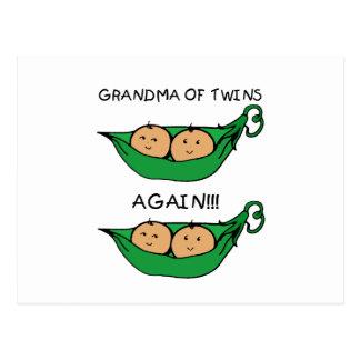 Grandma of Twins Again Pod Postcard