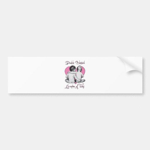 grandma of twins bumper sticker