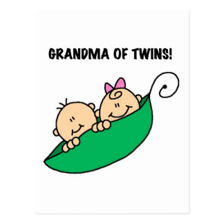 Grandma of Twins Peas in a Pod Tshirts and Gifts Postcard
