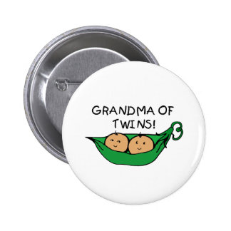 Grandma of Twins Pod Buttons