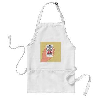 Grandma on the phone adult apron