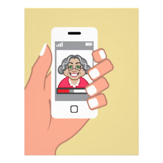 Grandma on the phone letterhead