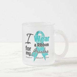 Grandma - Ovarian Cancer Ribbon Mugs