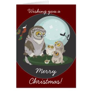 Grandma Owl Storytelling Christmas Card