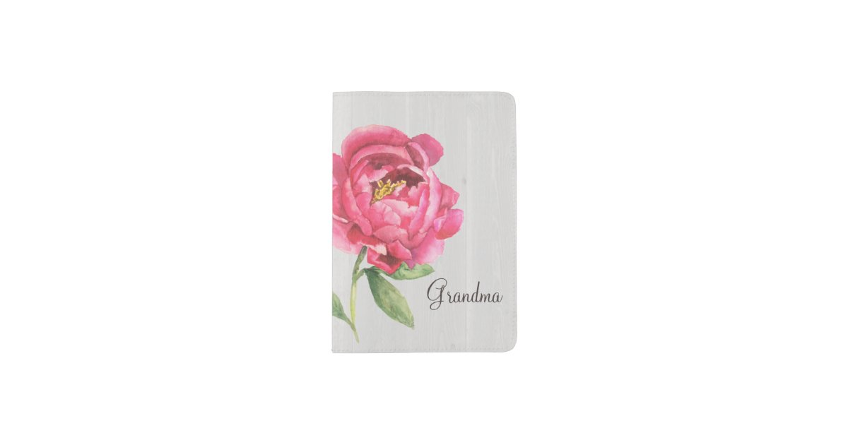 Grandma Peony Passport Mother's Day Gift Passport Holder
