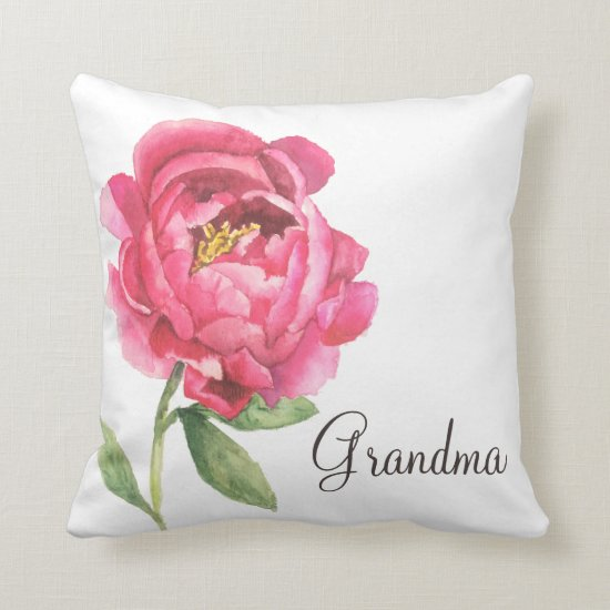 Grandma Peony Pillow Mother's Day Gift
