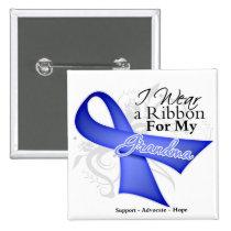 Grandma Periwinkle Ribbon - Stomach Cancer Pin