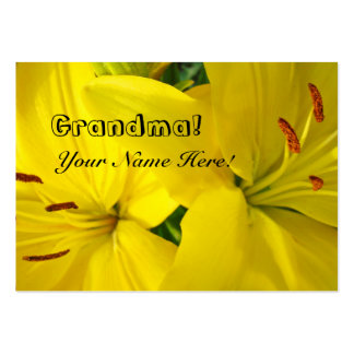 Grandma personal business cards Yellow Lilies