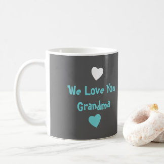 Grandma Photo coffee mug turquoise gray