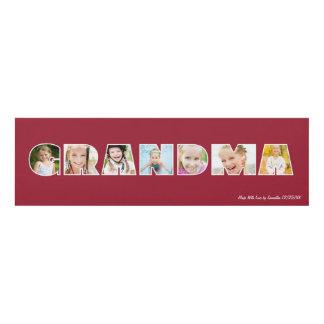 GRANDMA Photo Custom Frame Panel Wall Art