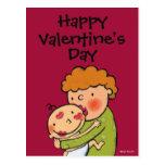 Grandma Pink Lipstick Kisses for Baby Postcard