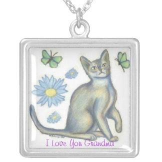 Grandma Playful Cat Necklace