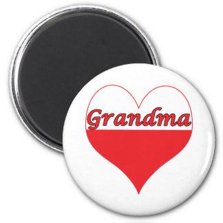 Grandma Polish Heart 2 Inch Round Magnet