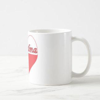 Grandma Polish Heart Coffee Mug
