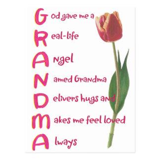 grandma post card