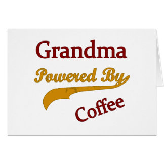 Grandma Powered By Coffee Card