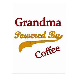 Grandma Powered By Coffee Postcard