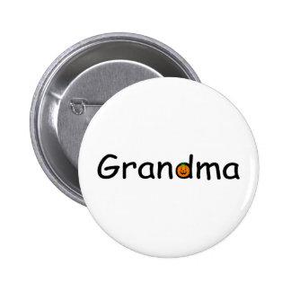 Grandma Pumpkin Button