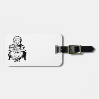 Grandma Read You a Story Cartoon Design Bag Tag