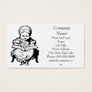 Grandma Read You a Story Cartoon Design Business Card