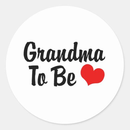 Grandma Round Sticker