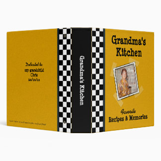 Grandma s Kitchen 1 5 Vinyl Binder