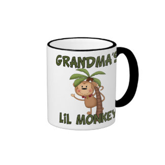 Grandma s Little Monkey Ringer Coffee Mug