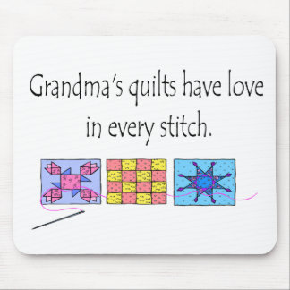 Grandma s Quilts T-shirts and Gifts Mouse Pads