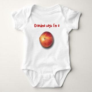 Grandma says I'm a peach Baby Bodysuit
