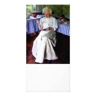 Grandma Sewing Card