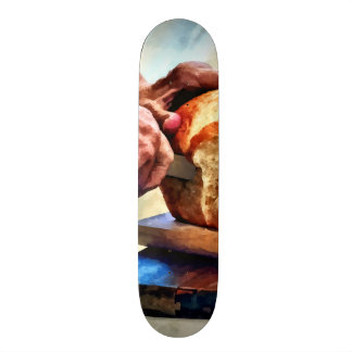 Grandma Slicing Bread Skateboard