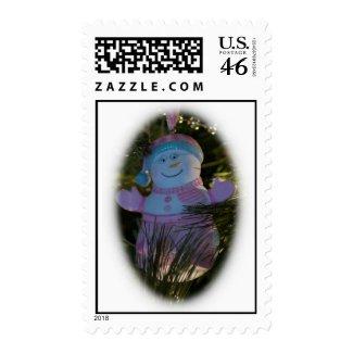 Grandma Snowman Postage stamp