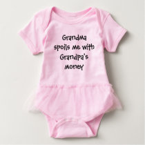Grandma Spoils Me Grandpa's Money Baby Bodysuit