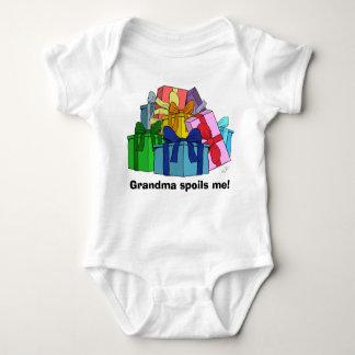 Grandma spoils me with presents baby bodysuit