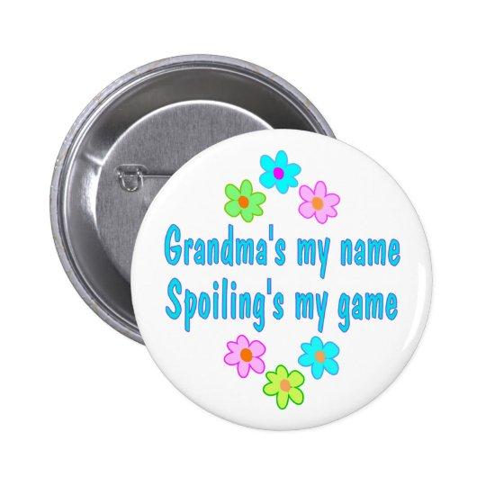 Grandma Spoils Pinback Button