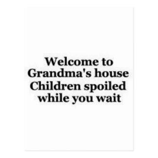 Grandma spoils while you wait post card