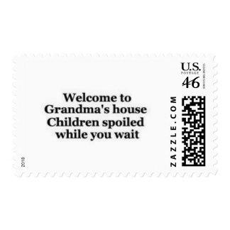 Grandma spoils while you wait postage stamp