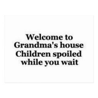 Grandma spoils while you wait postcard
