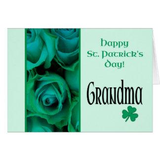 Grandma St. Patrick's Irish roses Card